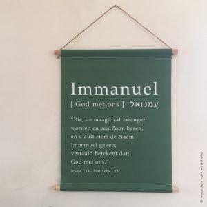 Wandkleed Immanuel woordenvanwaarheid.nl