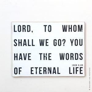 Johannes 6-68 woordenvanwaarheid