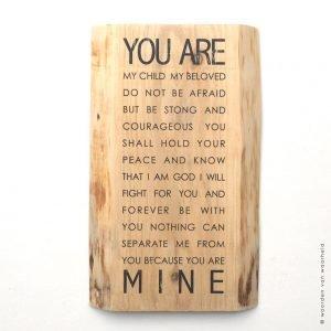 You are Mine bijbeltekst christelijke tekst woordenvanwaarheid
