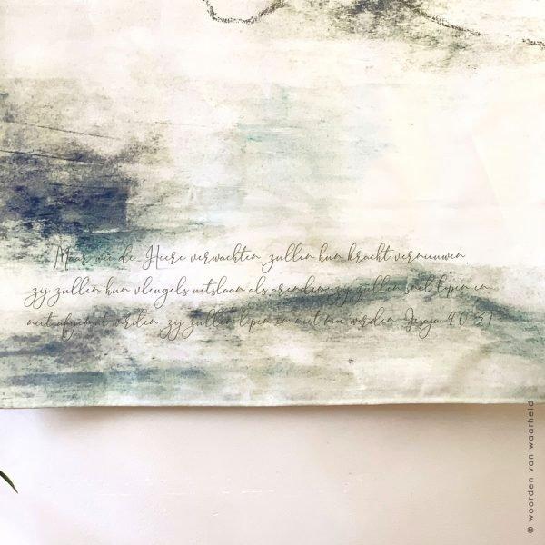 Wandkleed Exclusive Jesaja 40-31 4 christelijke tekst bijbeltekst woordenvanwaarheid