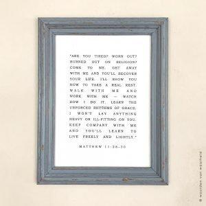 Matthew 11-28-30 Exclusive 3 christelijke tekst op hout plank bijbeltekst woordenvanwaarheid