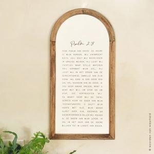 Psalm 23 Exclusive 1 christelijke tekst op hout plank bijbeltekst woordenvanwaarheid