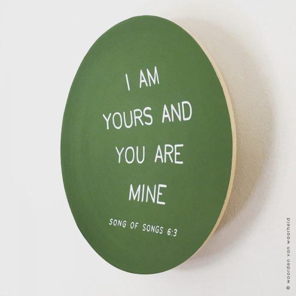 Song of songs 6-3 2 christelijke tekst op hout plank bijbeltekst woordenvanwaarheid