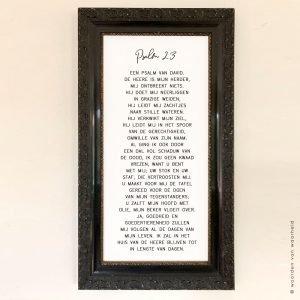 Exclusive Psalm 23 zwarte lijst christelijke tekst op hout plank bijbeltekst woordenvanwaarheidkopie