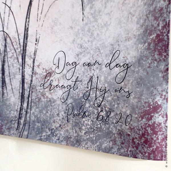 Psalm 68-20 3 wandkleed exclusive christelijke tekst op hout plank bijbeltekst woordenvanwaarheid