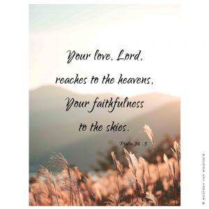 Psalm 36-5 wandkleed exclusive christelijke tekst op hout plank bijbeltekst woordenvanwaarheid