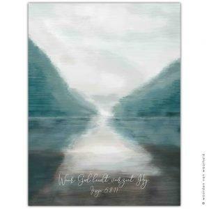 Bergen Jesaja 58-11wandkleed exclusive christelijke tekst op hout plank bijbeltekst woordenvanwaarheid