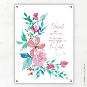 Jeremiah 17 Rosa tuinposter woordenvanwaarheid
