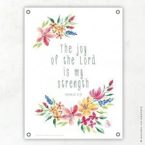Nehemiah 8-10 Rosa tuinposter woordenvanwaarheid