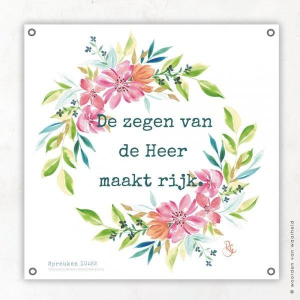 Spreuken 10 Rosa tuinposter woordenvanwaarheid