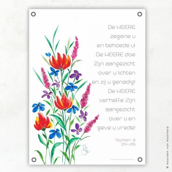 Zegen Rosa tuinposter woordenvanwaarheid