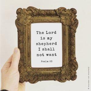 Psalm 23 Exclusive christelijke tekst op hout plank bijbeltekst woordenvanwaarheid
