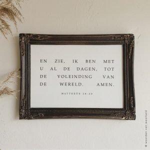 Exclusive Matt 28-20 christelijke tekst op hout plank bijbeltekst woordenvanwaarheid
