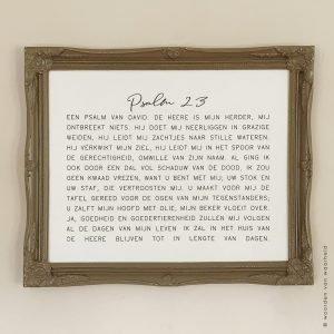 Exclusive Psalm 23 1 christelijke tekst op hout plank bijbeltekst woordenvanwaarheid