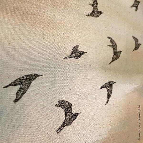 Vogels-Rust 2 wandkleed exclusive christelijke tekst op hout plank bijbeltekst woordenvanwaarheid