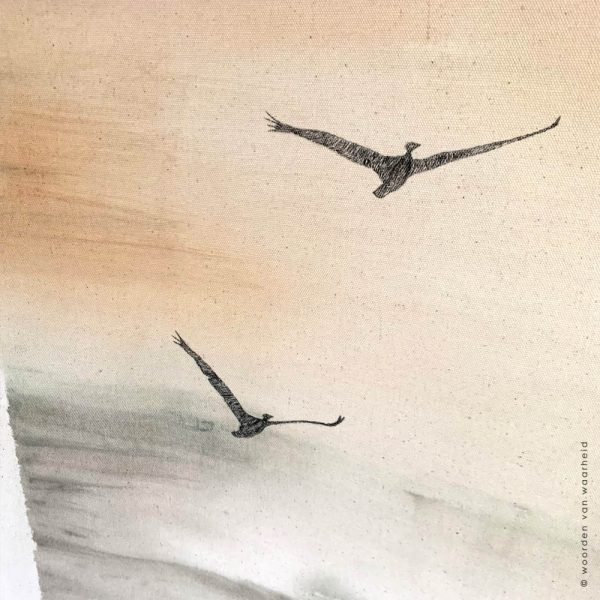 Wandkleed Vogels Rust 1 christelijke tekst op hout plank bijbeltekst woordenvanwaarheid