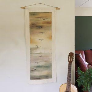 Wandkleed Vogels Rust christelijke tekst op hout plank bijbeltekst woordenvanwaarheid