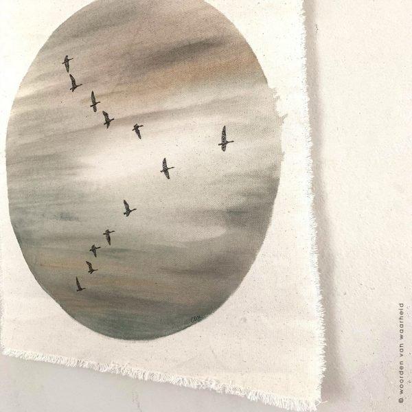 Wandkleed Vogels Rust 1 Christelijke kunst op wandkleed woordenvanwaarheid