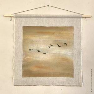 Wandkleed Vogels 3 Christelijke kunst op wandkleed woordenvanwaarheid